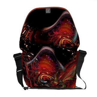 Messenger bag för design för Fractalkonst Vild-och