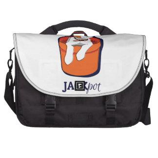 """Messenger bag """"för Jackpot"""" jackRussell Terrier Casino Kortlek"""