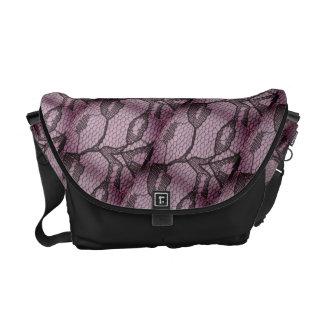 Messenger bag för Look för lilasvartsnöre
