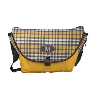 Messenger bag för plädMonogramRickshaw (kanariefåg