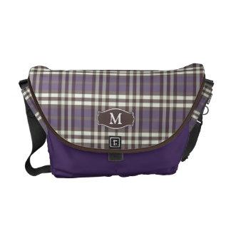 Messenger bag för plädMonogramRickshaw (lilor)