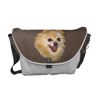 Messenger bag för Pomeranian hundanpassade