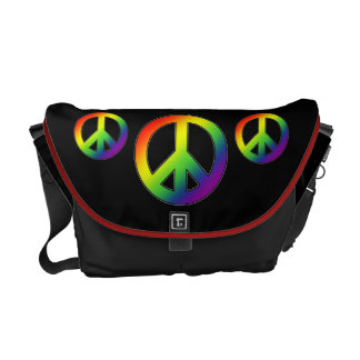 Messenger bag för regnbågefredsymbol
