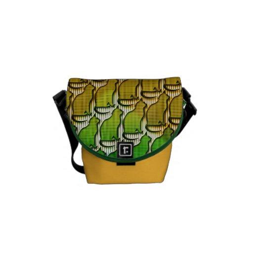 Messenger bag för Rickshawkortkort nolla