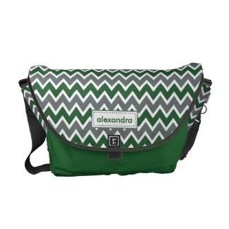 Messenger bag för sparremönsterRickshaw (grönt)