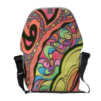 Messenger bag med abstrakt design