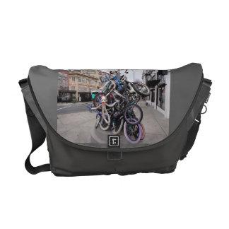 Messenger bag w Portland ELLER sock monkeycykelfot