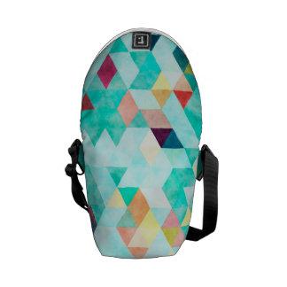 Messenger bagryggsäck - aqua- och melonvattenfärg kurir väska