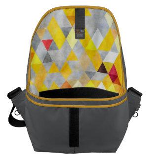 Messenger bagryggsäck - gult- och grå kurir väskor