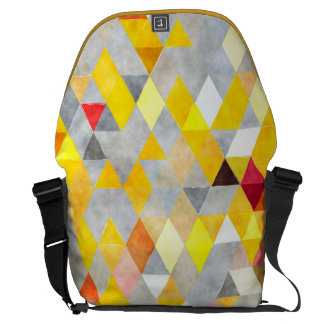 Messenger bagryggsäck - gult- och grå messenger bag