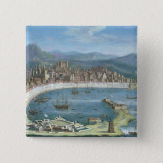 Messina - ett panorama- beskådar av porten standard kanpp fyrkantig 5.1 cm