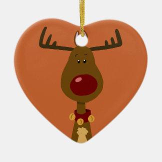 Mest berömd ren hjärtformad julgransprydnad i keramik