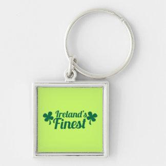 Mest fina Irelands! St patricks daymedborgarepride Fyrkantig Silverfärgad Nyckelring