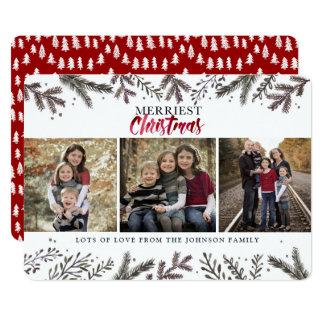 Mest glad kort för foto för träd | för jul | 12,7 x 17,8 cm inbjudningskort