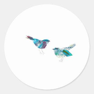 Mest gullig Twitterblåttfågel Runt Klistermärke