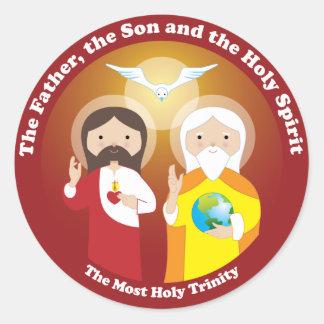 Mest helig Trinity Runt Klistermärke