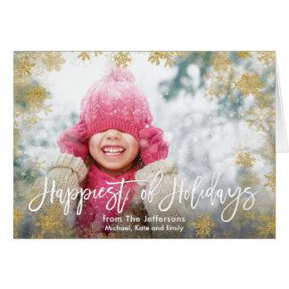 Mest lycklig av helgdagarfotoet hälsningskort