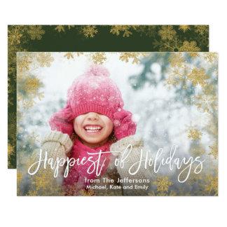 Mest lycklig av helgdagarfullt blöda fotoet 12,7 x 17,8 cm inbjudningskort