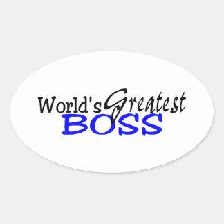 Mest underbar chef för världar ovalt klistermärke