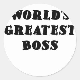 Mest underbar chef för världar runt klistermärke