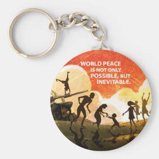 Mest underbar fred rund nyckelring