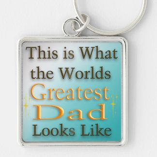 Mest underbar pappa - fars dag Keychain Nyckelring