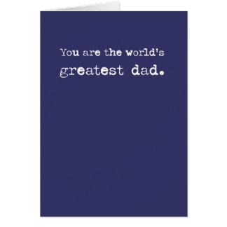 Mest underbar pappatextkort hälsningskort