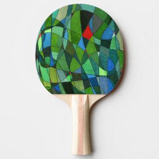 """""""Mestadels paddlar den grönt"""" abstraktpingen Pong Pingisracket"""