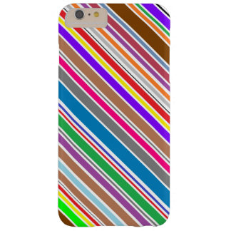 Metad färg görar randig iphone case barely there iPhone 6 plus fodral