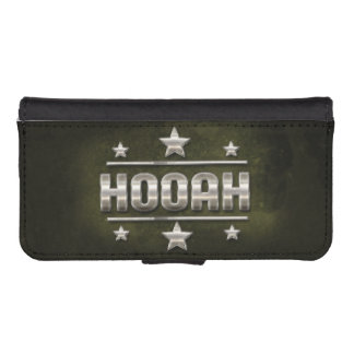MetallHooah text Plånboksskydd För iPhone 5