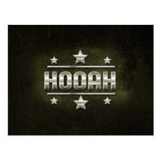 MetallHooah text Vykort