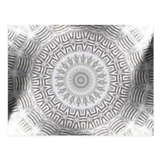 METALLinslagKaleido mönster Vykort