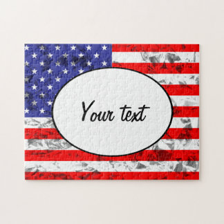 Metallisk amerikanska flaggandesign 2 pussel