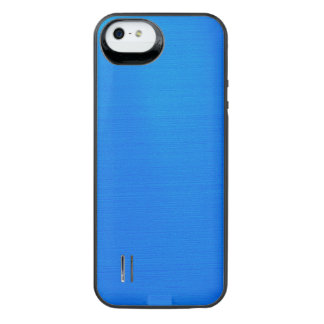 Metallisk Aqua iPhone SE/5/5s Batteri Skal