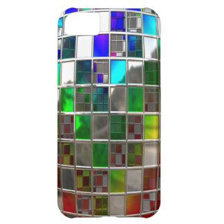 Metallisk diskoboll för regnbåge iPhone 5C fodral