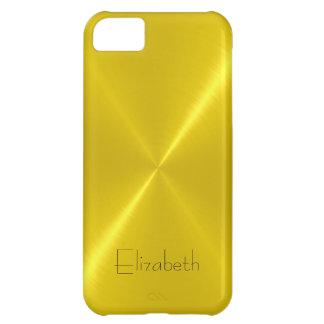 Metallisk gul rostfritt stålmetallLook iPhone 5C Fodral