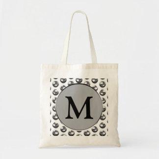 Metallisk Monogram Tygkasse