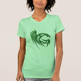 Metallisk mörk - grön drake t shirts