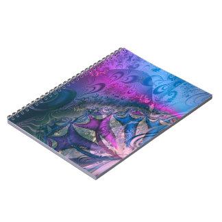 Metallisk Pinking abstrakt Fractal Anteckningsbok