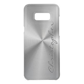 Metallisk radiell Look för personligrostfritt stål Get Uncommon Samsung Galaxy S8 Plus