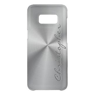 Metallisk radiell Look för personligrostfritt stål Uncommon Samsung Galaxy S8 Skal