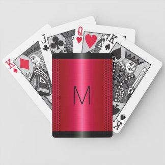 Metallisk röd rostfritt stålmetallLook Spel Kort