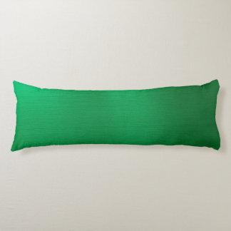 Metallisk smaragd kroppskudde