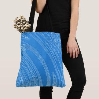metallisk struktur för abstrakt blått tygkasse