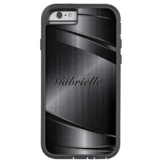 Metallisk svart design borstad Aluminum Look Tough Xtreme iPhone 6 Skal