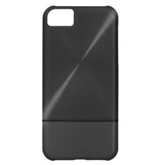 Metallisk svart rostfritt stål iPhone 5C fodral