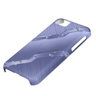 Metalliska blått borstad metallLookMonogram iPhone 5C Fodral