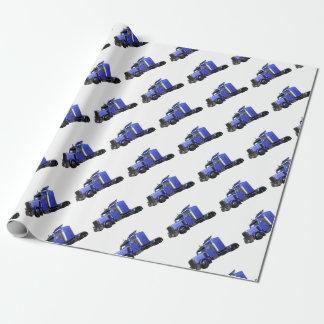 Metalliska blått som den halva lastbilen i tre presentpapper