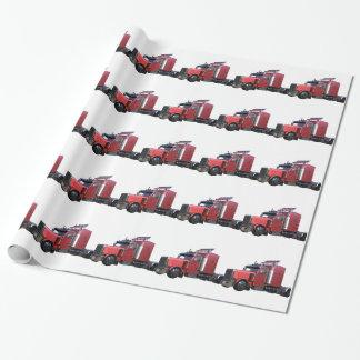 Metalliska röda halva TruckIn tre inkvarterar Presentpapper