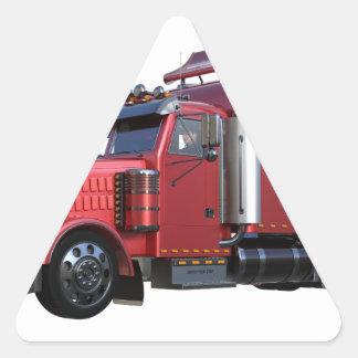 Metalliska röda halva TruckIn tre inkvarterar Triangelformat Klistermärke